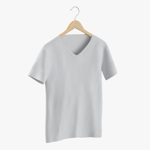 3D model male v neck hanging