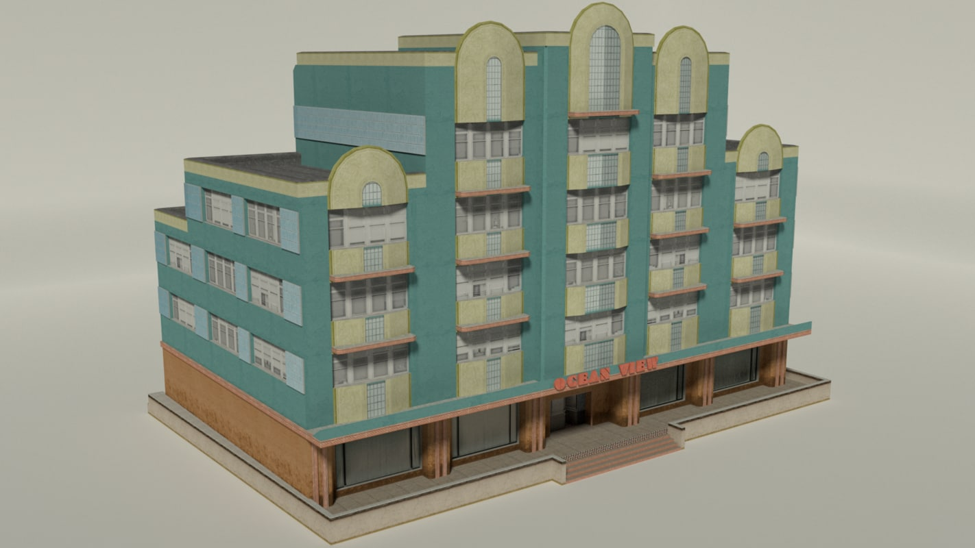 3D remastered ocean view hotel