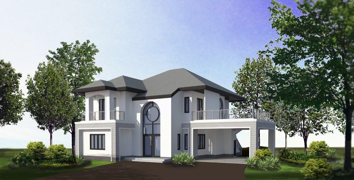 modern villa 3D