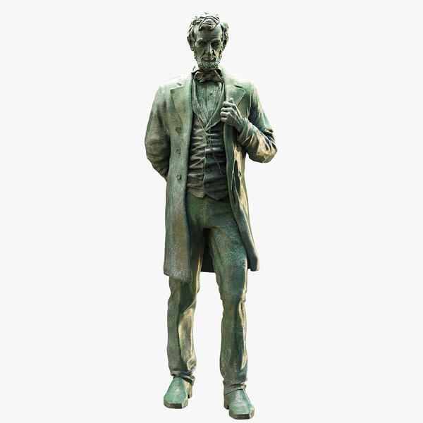 3D abraham statue