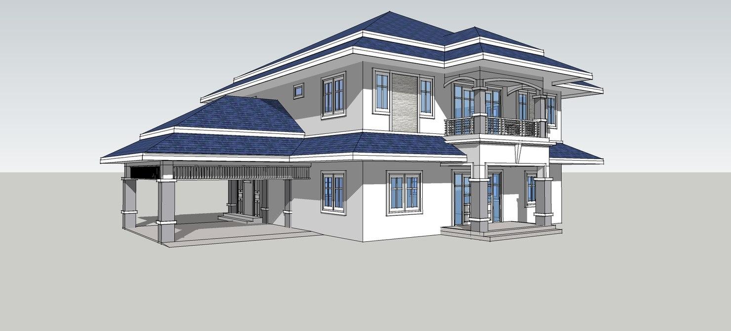 Modern villa 3d model turbosquid 1194578 for Model villa moderne