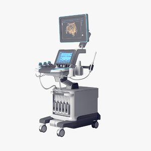 3D realistic ultrasound imaging machine model