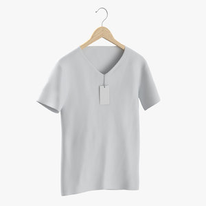 3D male v neck hanging
