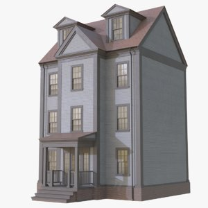 colonial townhouse 3D model
