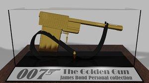 3D james bond gun model