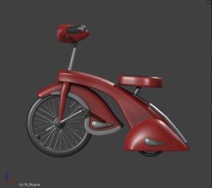 3D tricycle retro