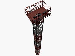 3D model mast lighting airports pbr