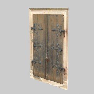 3D old door