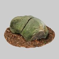 moss rock 3D model