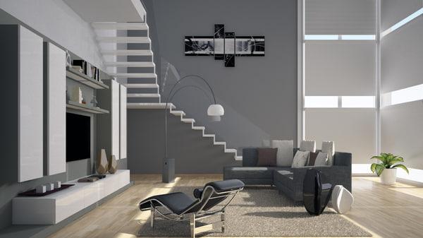 3D living room model