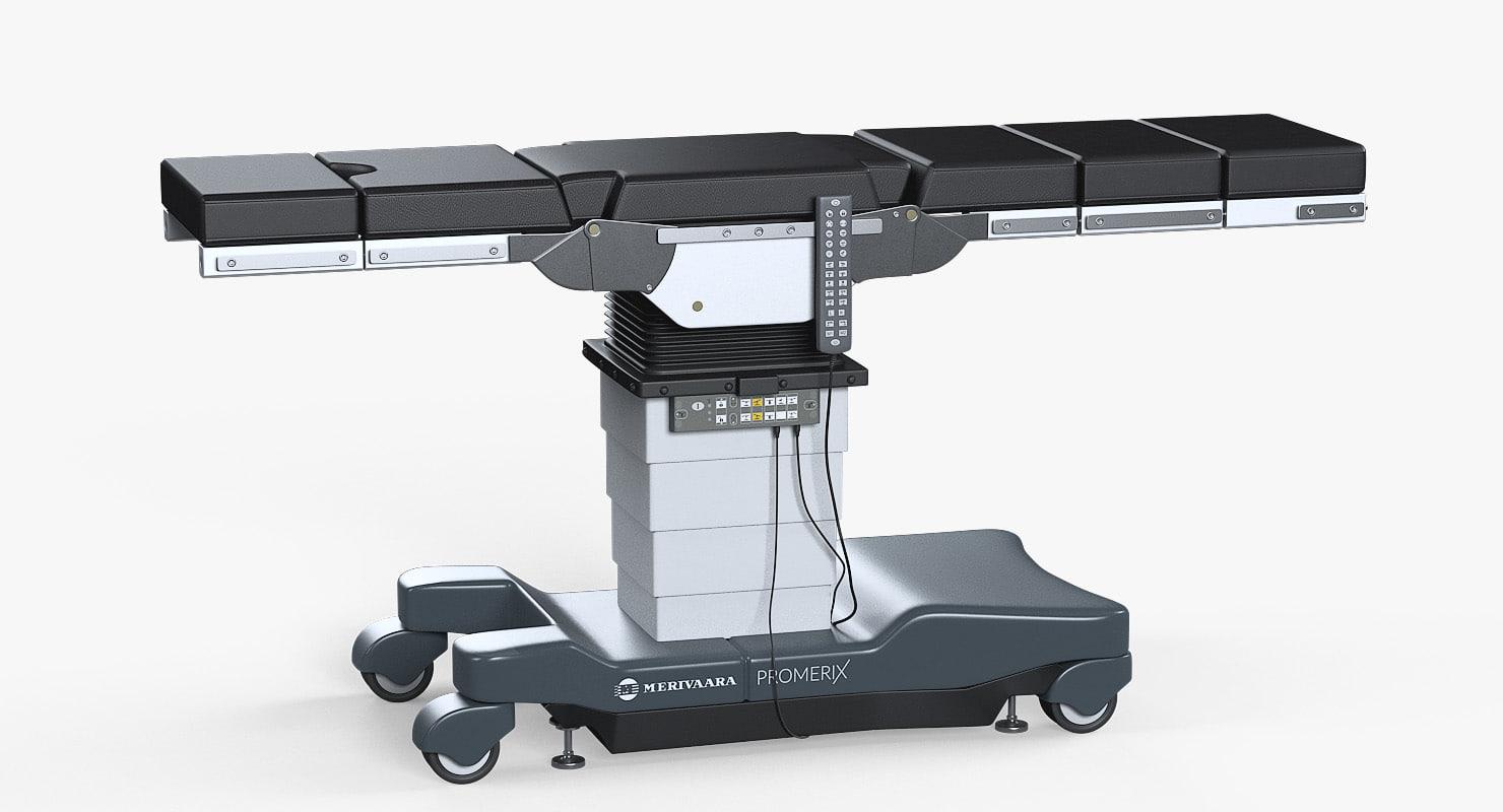 3D model operating table merivaara promerix