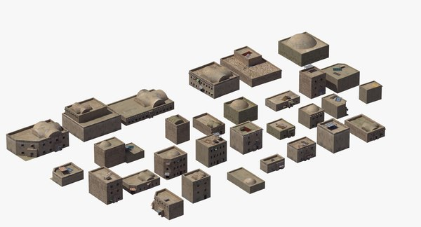 3D biblical arab buildings model