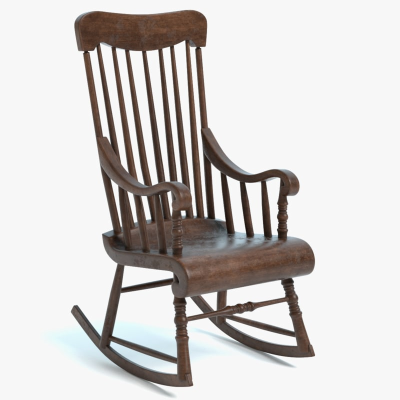 old rocking chair 3D model