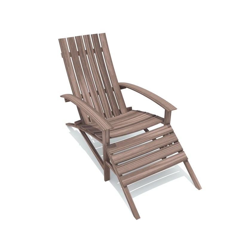 bespoke deck chair 3D model