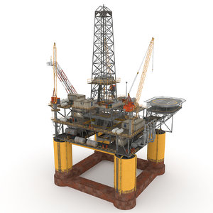 oil rig model