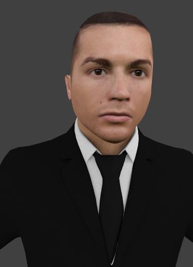 3D cristiano ronaldo model