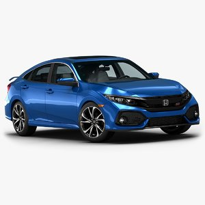 2017 honda civic sedan 3D model