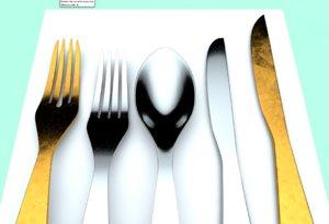 3D cubiertos cutlery