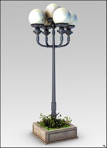 3D street lamp model
