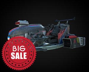 fantasy jet moto 3D