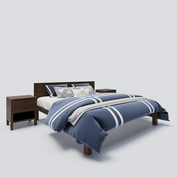 boerum bed frame 3D model