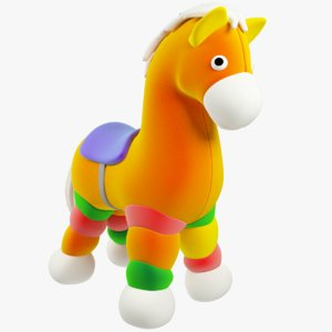stuffed toy horse model