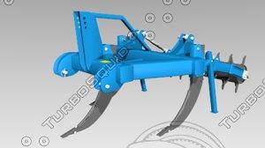 letak cultivator 3D model