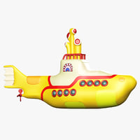 3D yellow submarine model