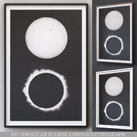 3D restoration 1890 solar eclipse