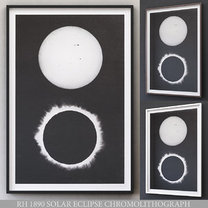 3D restoration 1890 solar eclipse