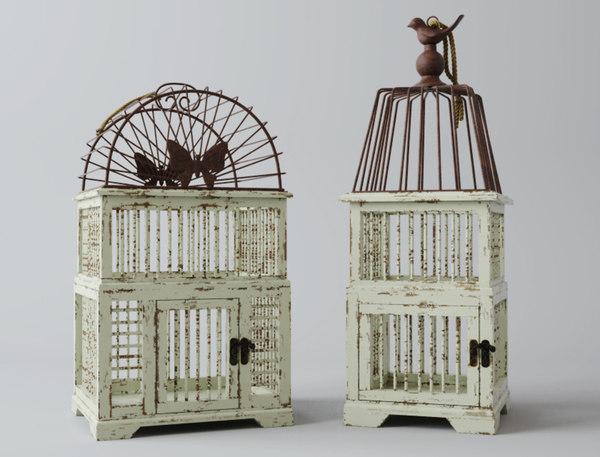 3D model antiqued decorative birdcages