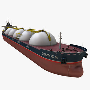 3D realistic lng tanker ship