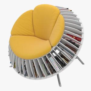 3D sunflower chair sun
