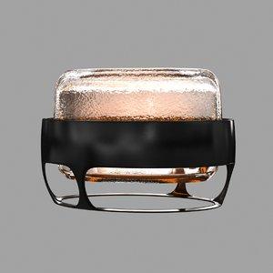 table lamp iris 3D model