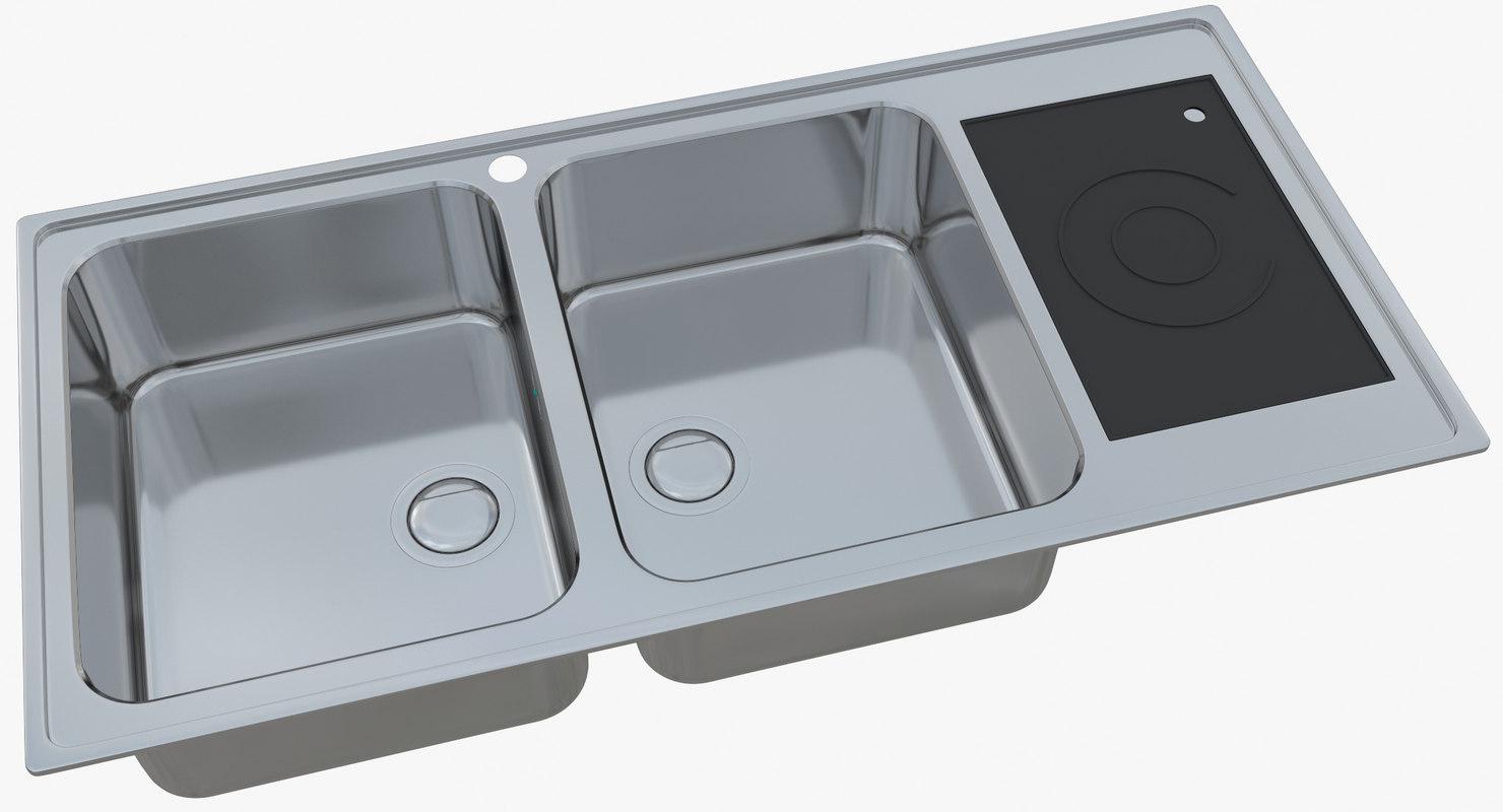 3D sink ease ma-40-40s model