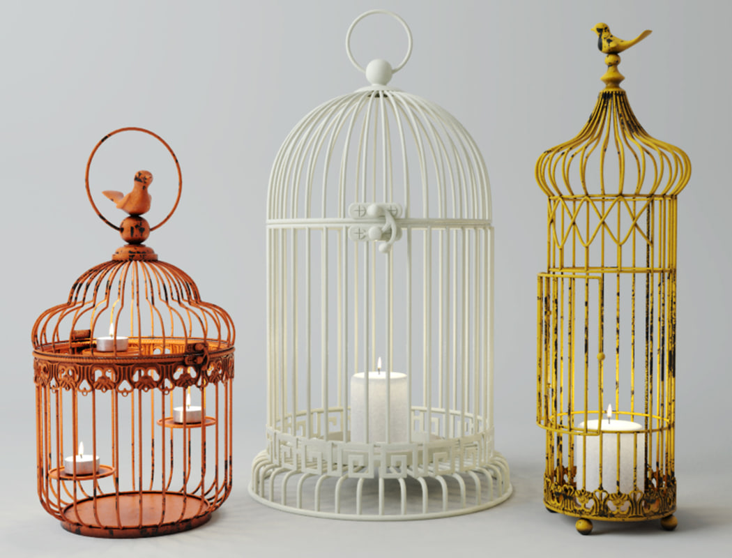 3D model cage candle holders