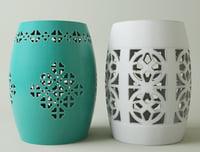 3D ceramic garden stools model