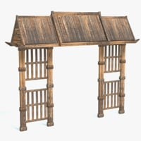 3D model wood chinese arch