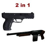 shutgun shut gun 3D model