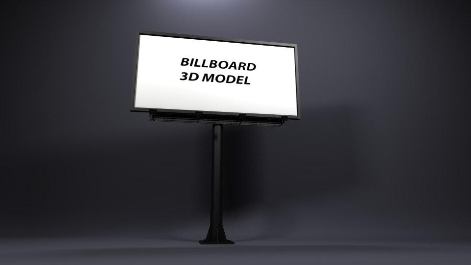 3D model billboard advertising visualization
