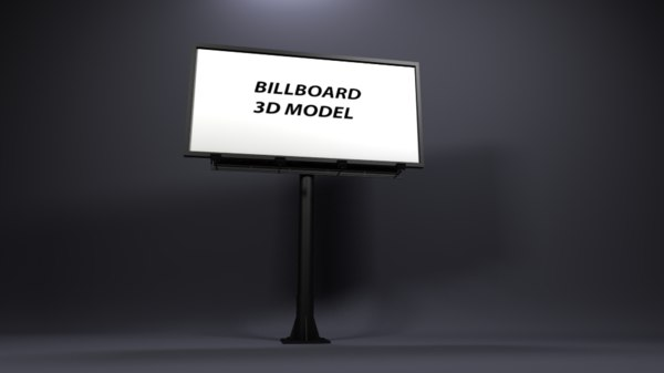 3D model billboard advertising visualization