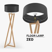 3D floor lamp zed model