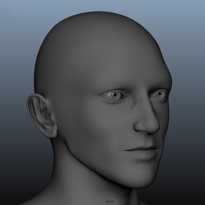 realistic male body base 3D model