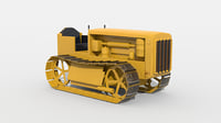 Old Bulldozer - Low Poly
