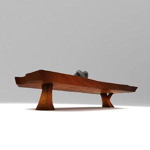 wood table 3D model