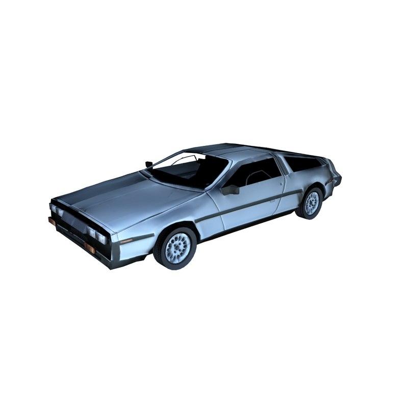 3D model lorean car