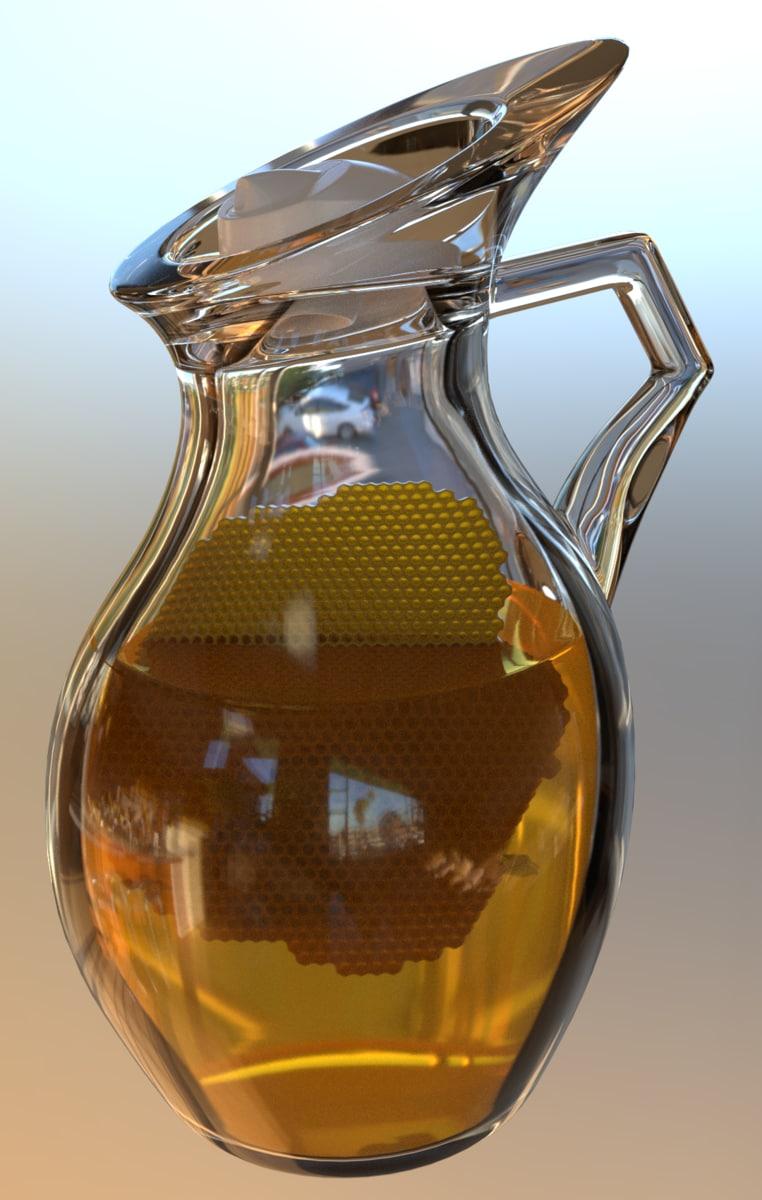 honey jug 3D model