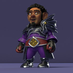 rigging gnome 3D model