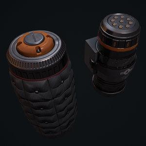 3D grenade pbr model