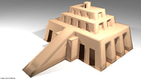3D chogha zanbil ziggurat model